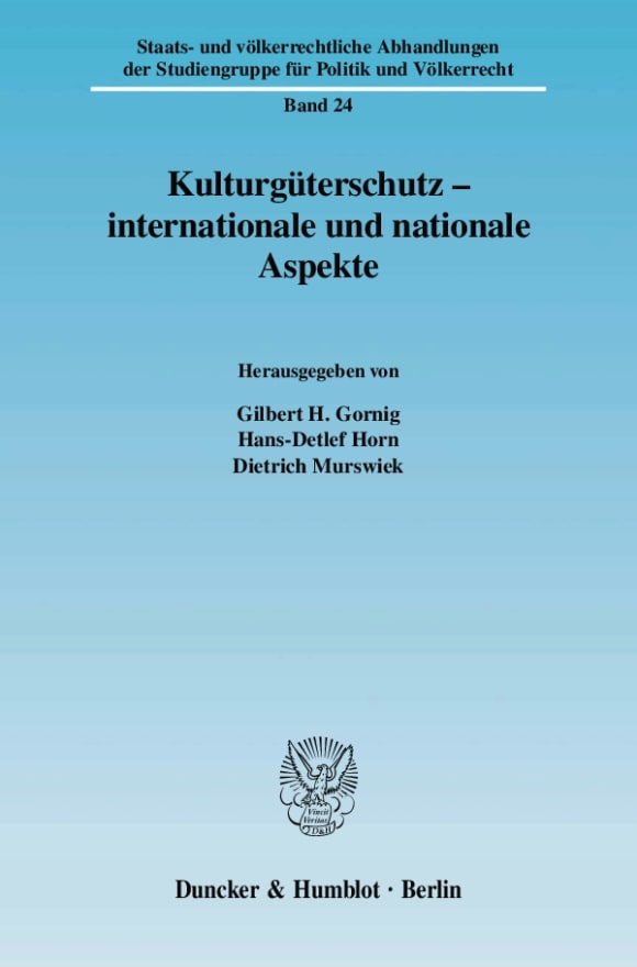 Cover Kulturgüterschutz - internationale und nationale Aspekte