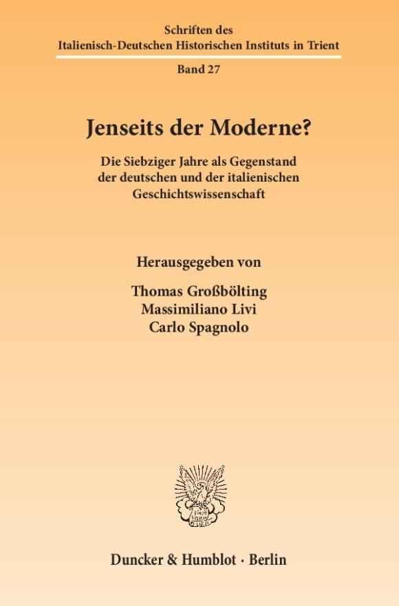 Cover Jenseits der Moderne?