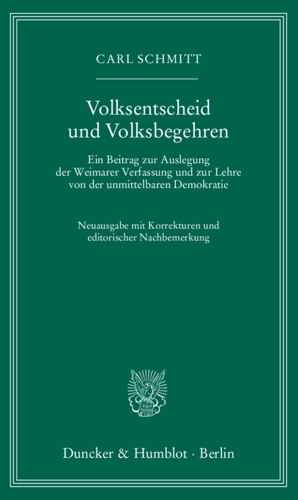 Cover Volksentscheid und Volksbegehren