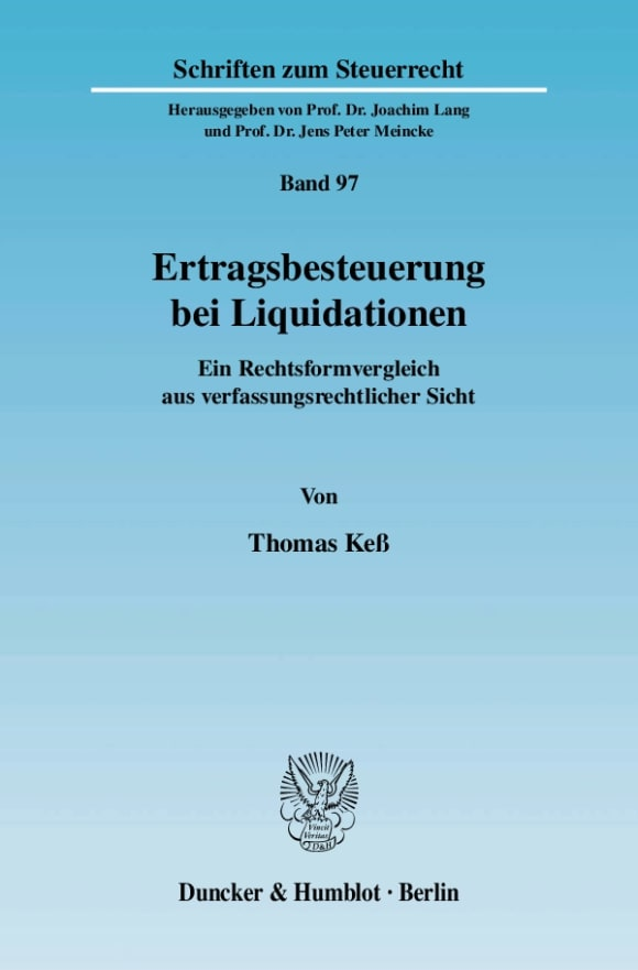 Cover Ertragsbesteuerung bei Liquidationen