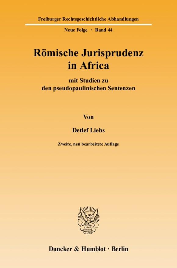 Cover Römische Jurisprudenz in Africa
