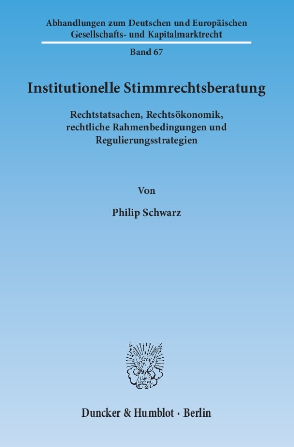 Cover Institutionelle Stimmrechtsberatung
