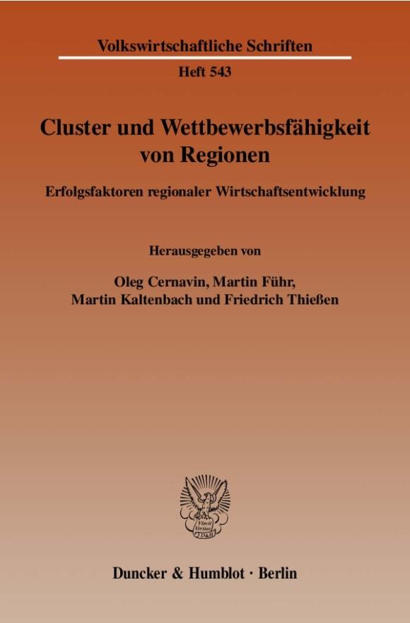 Cover Cluster und Wettbewerbsfähigkeit von Regionen