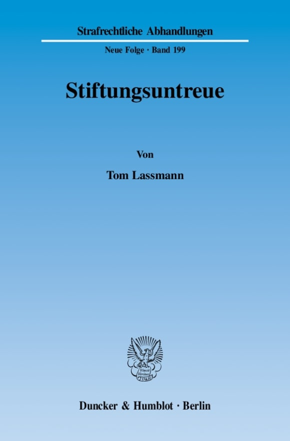 Cover Stiftungsuntreue
