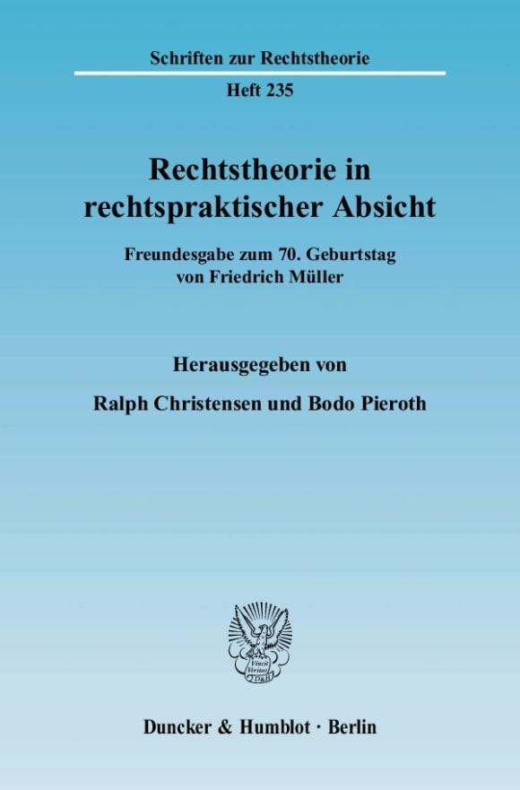Cover Rechtstheorie in rechtspraktischer Absicht