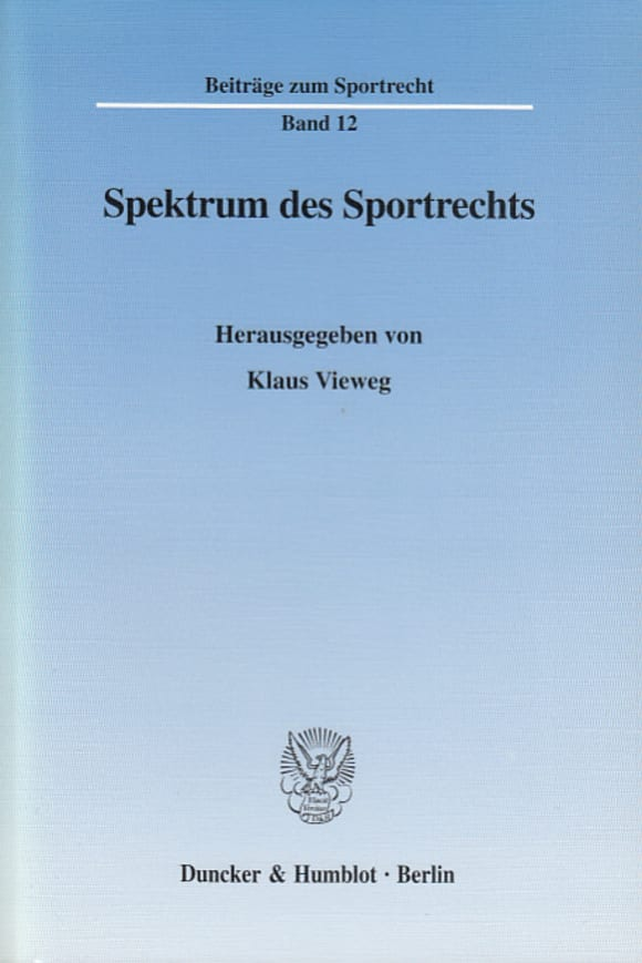 Cover Spektrum des Sportrechts