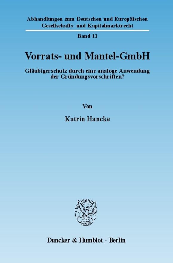Cover Vorrats- und Mantel-GmbH