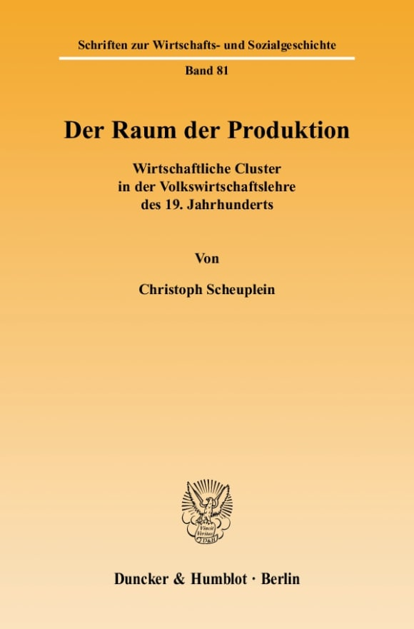 Cover Der Raum der Produktion