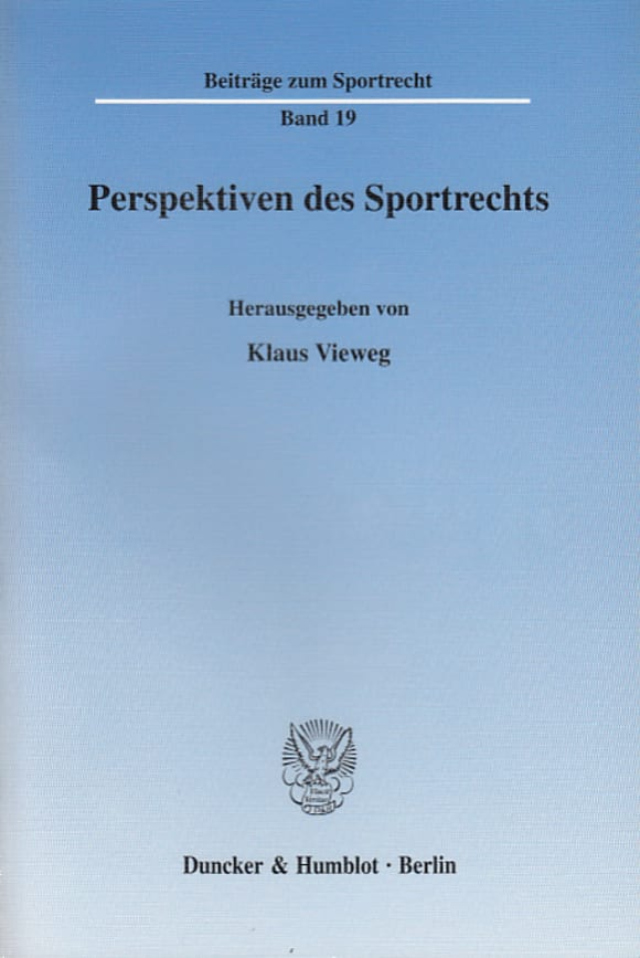 Cover Perspektiven des Sportrechts