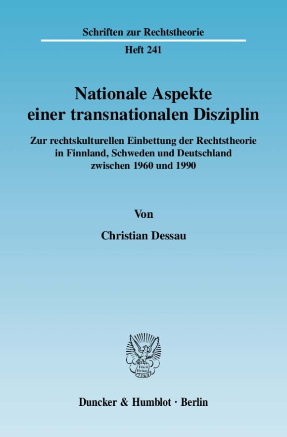 Cover Nationale Aspekte einer transnationalen Disziplin