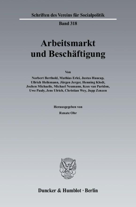 Cover Arbeitsmarkt und Beschäftigung