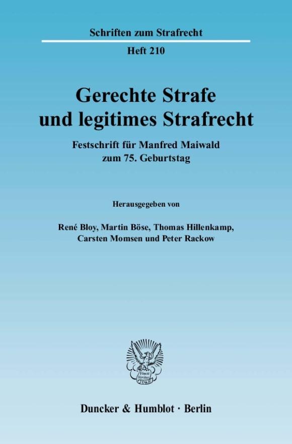 Cover Gerechte Strafe und legitimes Strafrecht