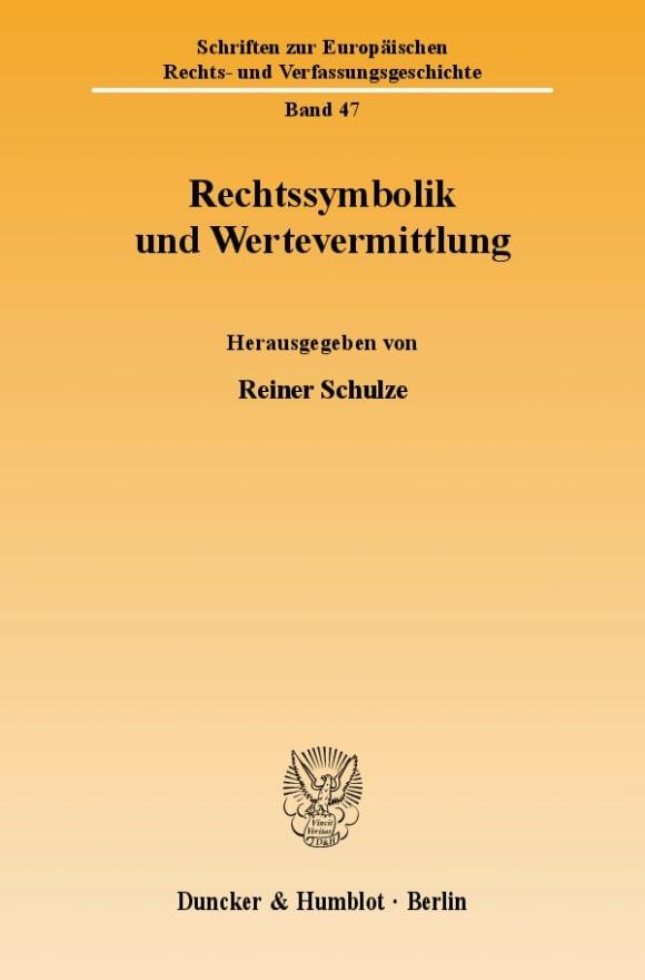 Cover Rechtssymbolik und Wertevermittlung