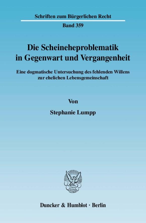 Cover Die Scheineheproblematik in Gegenwart und Vergangenheit