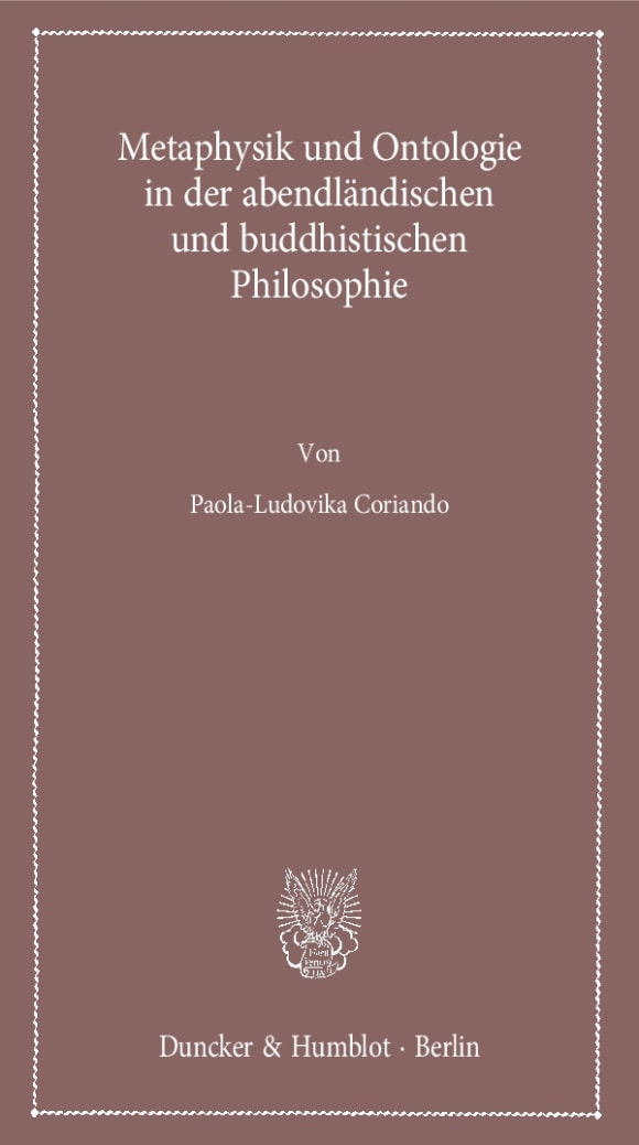 Cover Metaphysik und Ontologie in der abendländischen und buddhistischen Philosophie