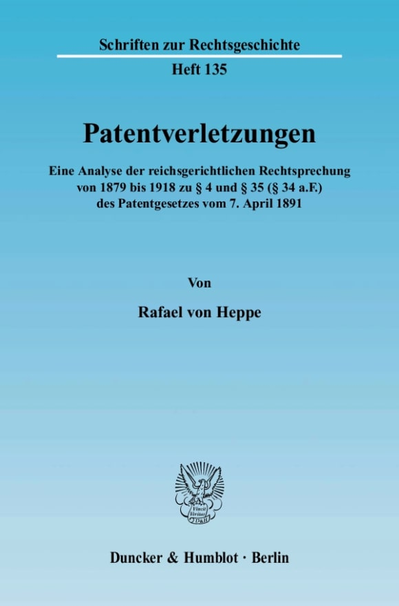 Cover Patentverletzungen