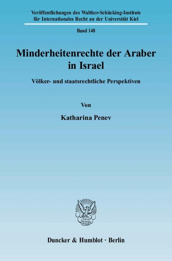 Cover Minderheitenrechte der Araber in Israel