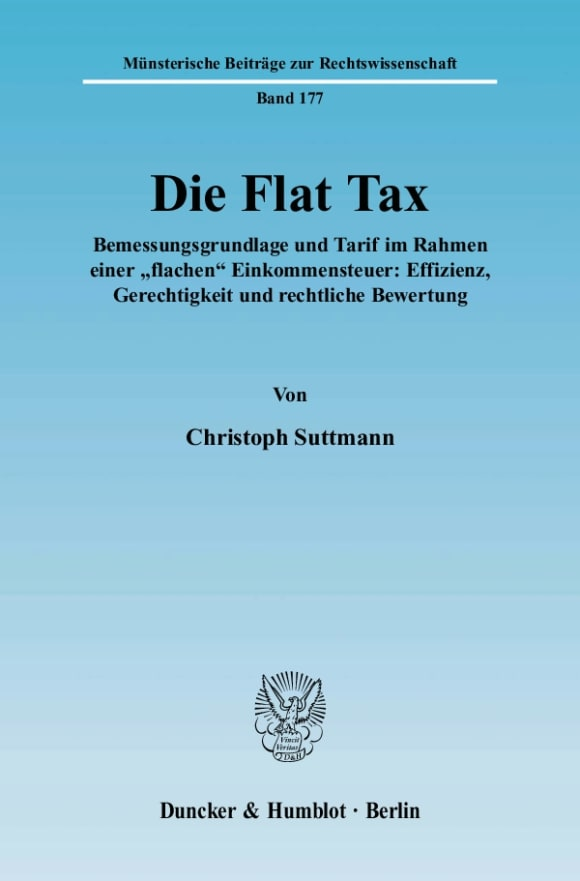 Cover Die Flat Tax