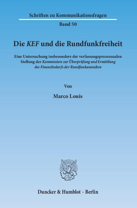 Cover Die KEF und die Rundfunkfreiheit