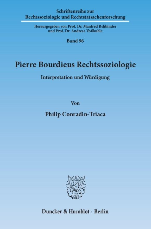 Cover Schriftenreihe zur Rechtssoziologie und Rechtstatsachenforschung (RR)