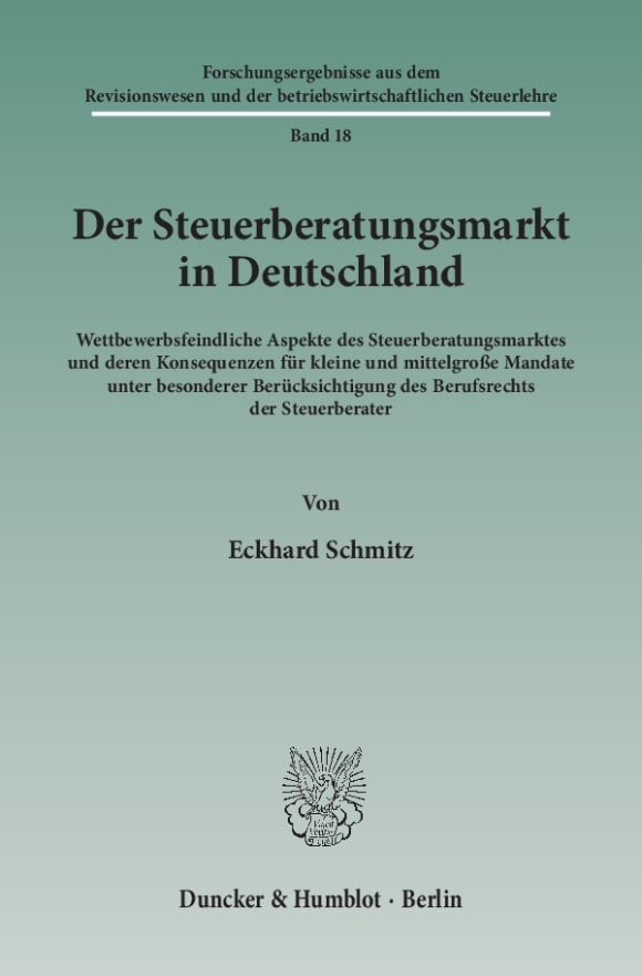 Cover Der Steuerberatungsmarkt in Deutschland