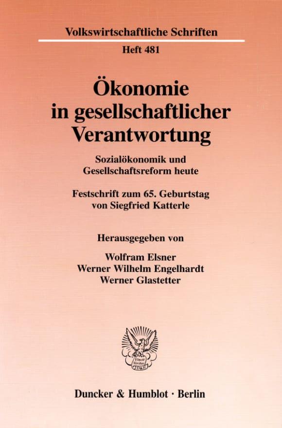 Cover Ökonomie in gesellschaftlicher Verantwortung
