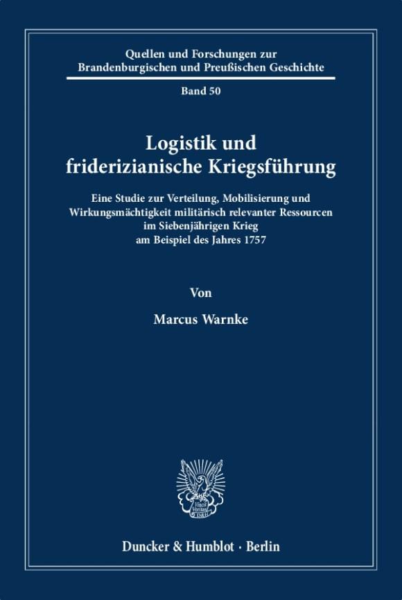 Cover Logistik und friderizianische Kriegsführung