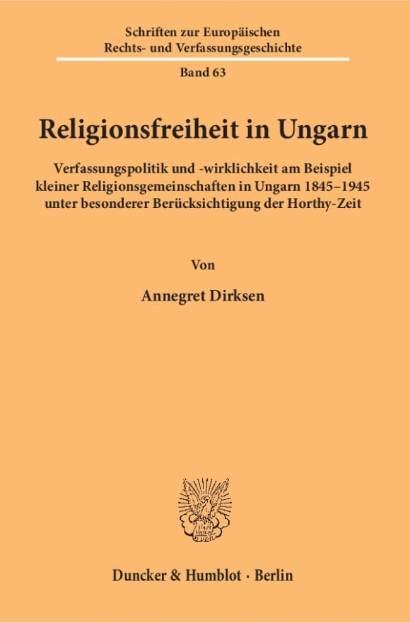 Cover Religionsfreiheit in Ungarn