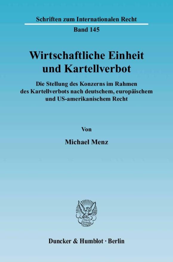 Cover Wirtschaftliche Einheit und Kartellverbot