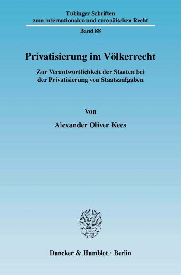 Cover Privatisierung im Völkerrecht