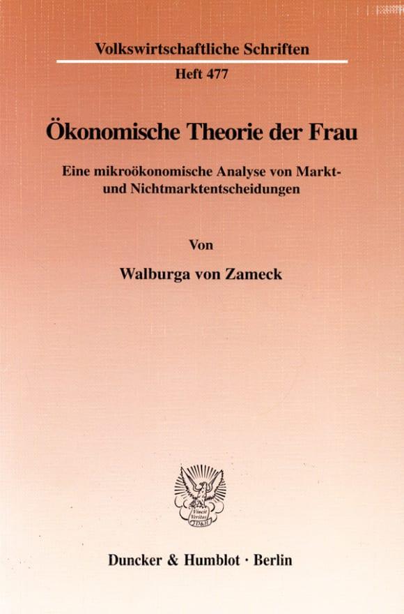 Cover Ökonomische Theorie der Frau