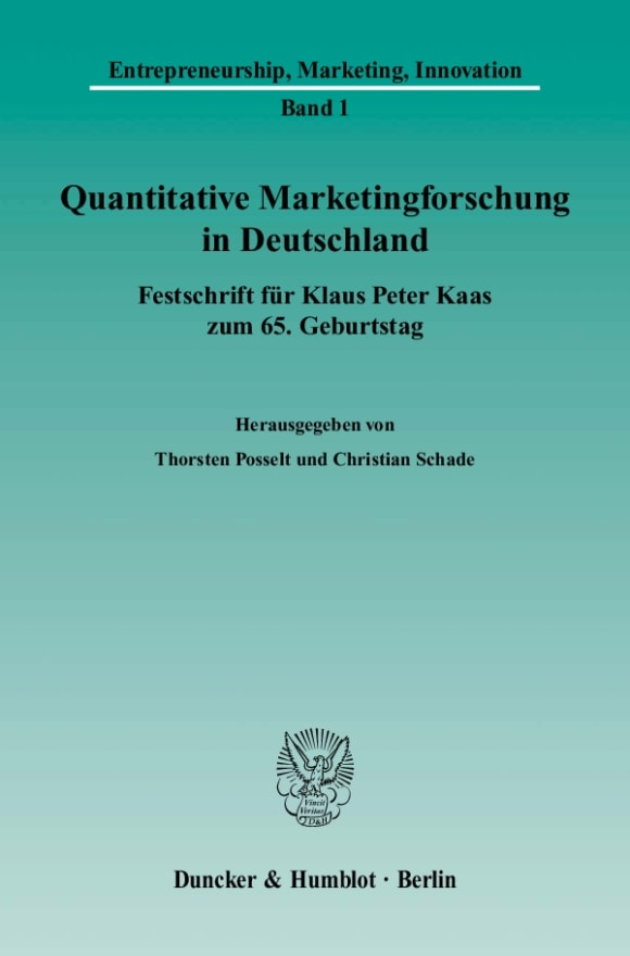 Cover Quantitative Marketingforschung in Deutschland