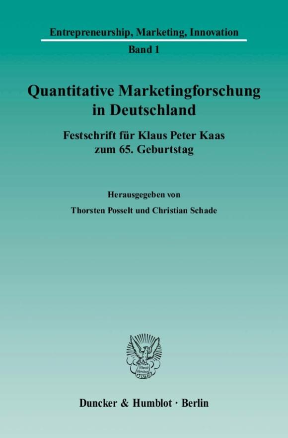 Cover Quantitative Marketingforschung in Deutschland
