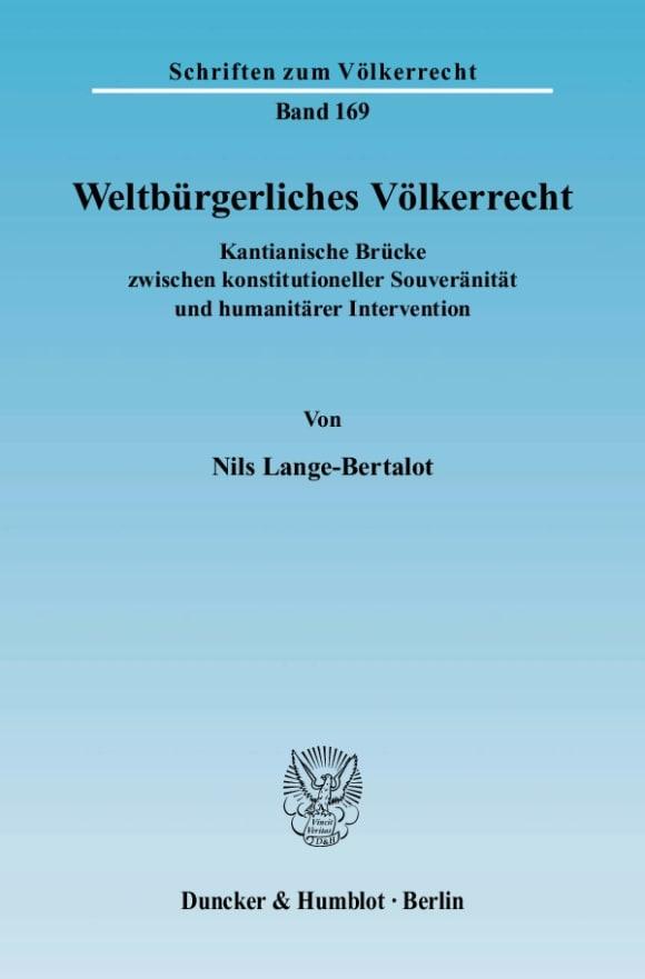 Cover Weltbürgerliches Völkerrecht