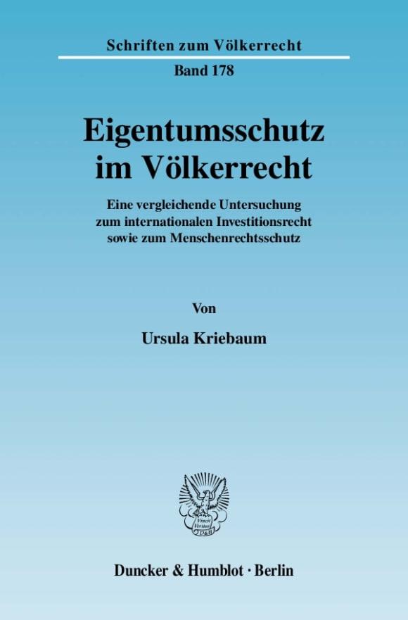 Cover Eigentumsschutz im Völkerrecht