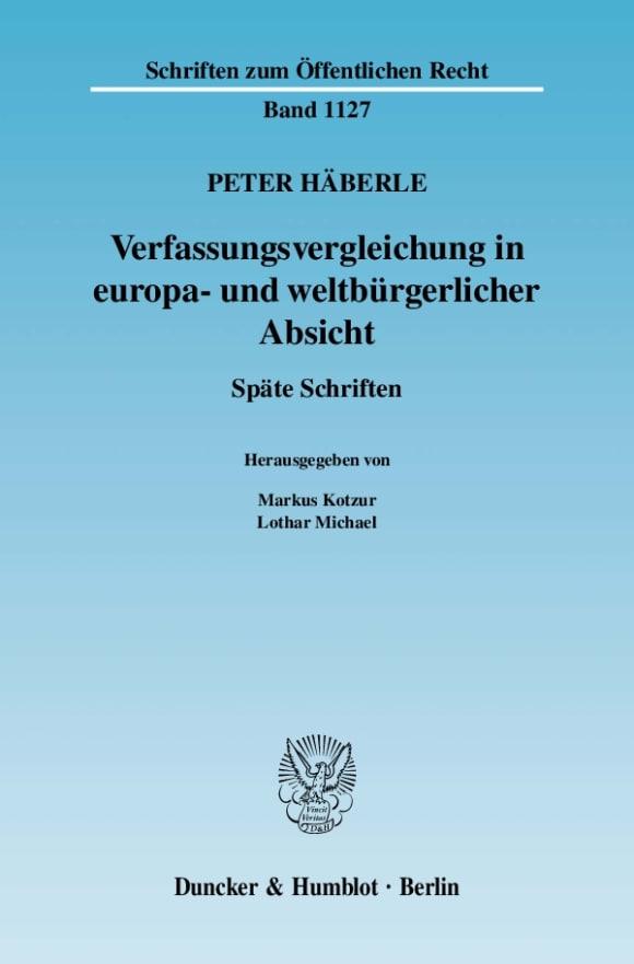 Cover Verfassungsvergleichung in europa- und weltbürgerlicher Absicht