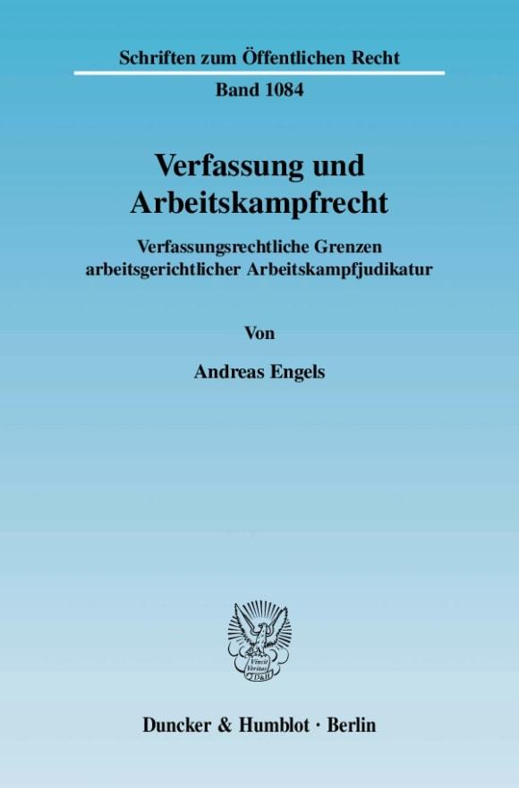 Cover Verfassung und Arbeitskampfrecht