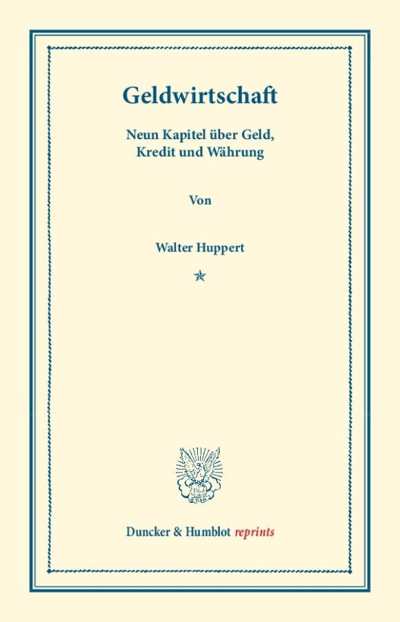 Cover Geldwirtschaft