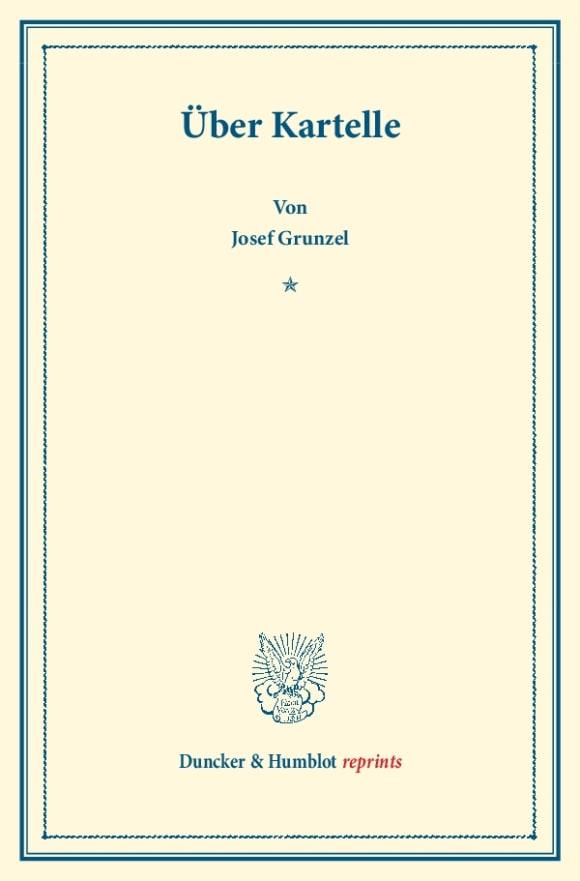 Cover Über Kartelle