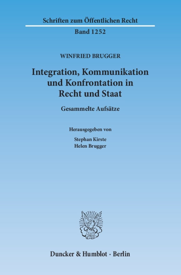 Cover Integration, Kommunikation und Konfrontation in Recht und Staat