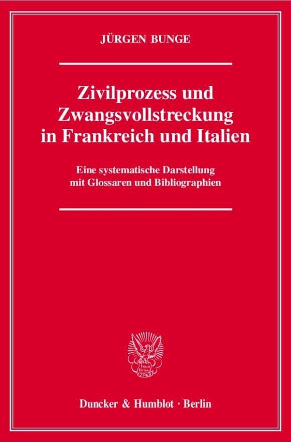 Cover Zivilprozess und Zwangsvollstreckung in Frankreich und Italien