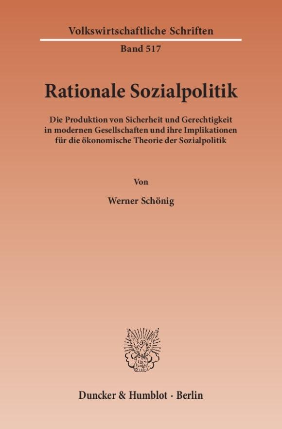 Cover Rationale Sozialpolitik