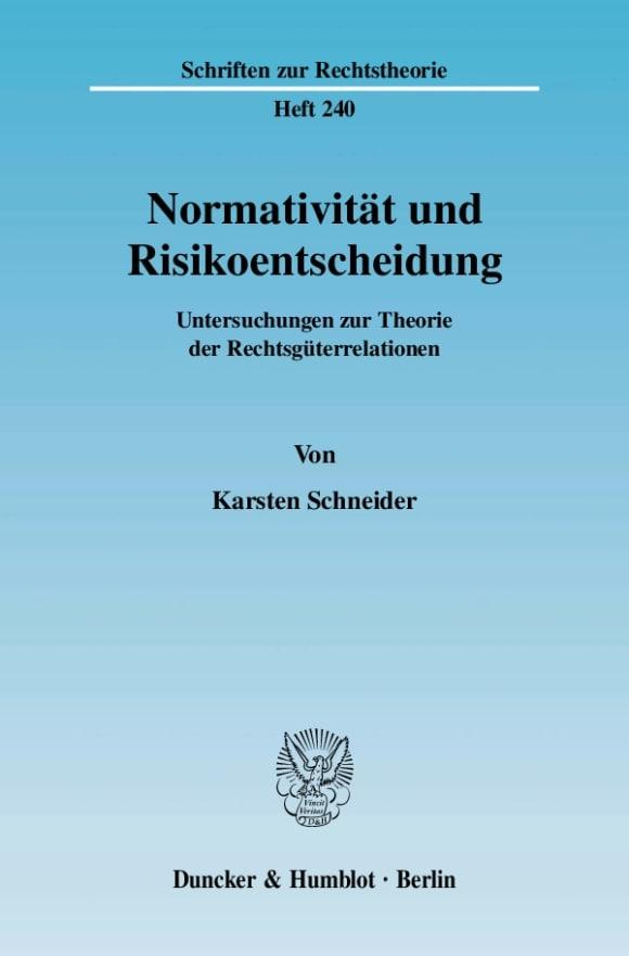 Cover Normativität und Risikoentscheidung