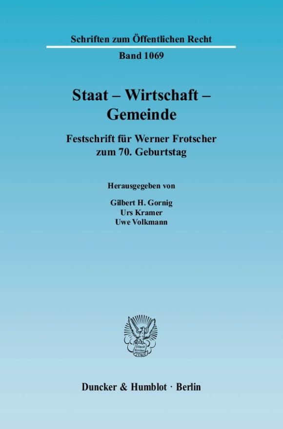 Cover Staat - Wirtschaft - Gemeinde