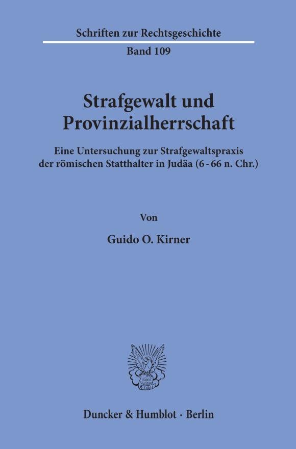 Cover Strafgewalt und Provinzialherrschaft