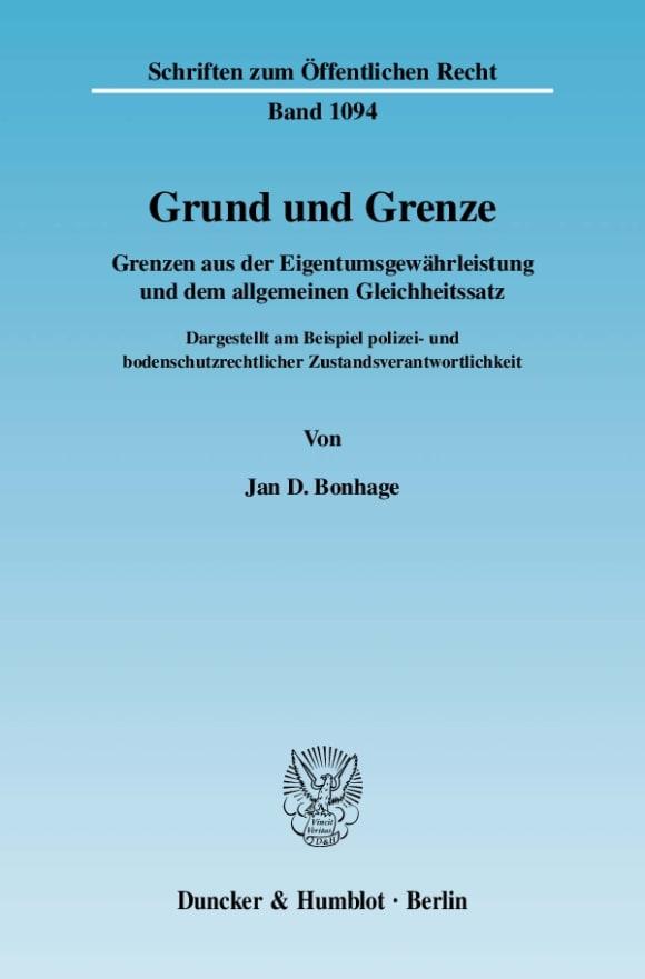 Cover Grund und Grenze