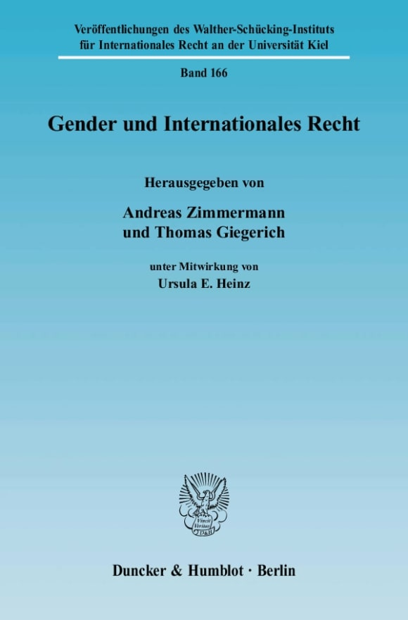 Cover Gender und Internationales Recht