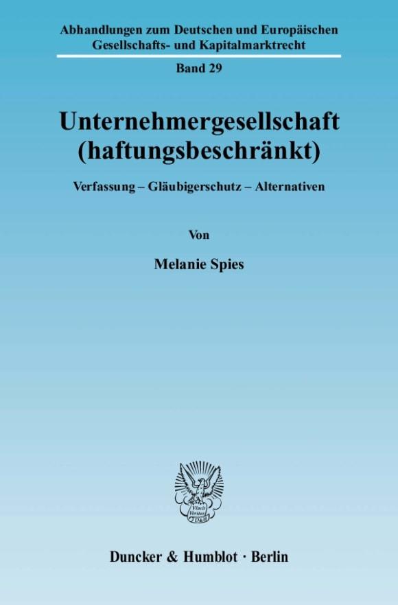Cover Unternehmergesellschaft (haftungsbeschränkt)