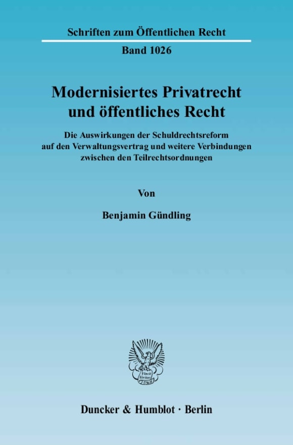 Cover Modernisiertes Privatrecht und öffentliches Recht
