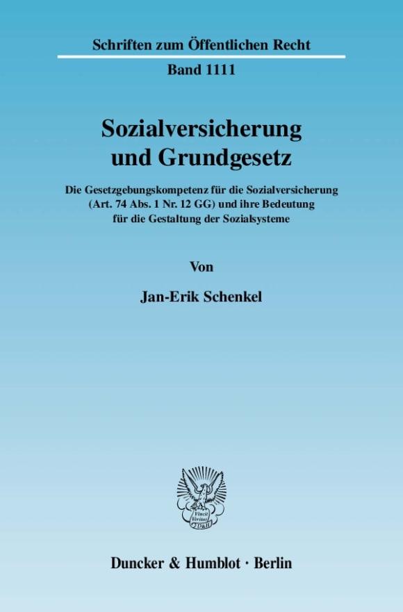 Cover Sozialversicherung und Grundgesetz